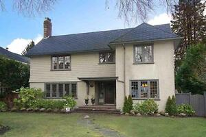 Lovingly cared 4 bedroom Shaughnessy family home for rent
