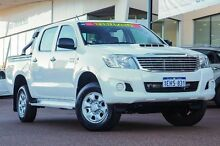 2013 Toyota Hilux KUN26R MY12 SR Double Cab White 5 Speed Manual Utility Wangara Wanneroo Area Preview