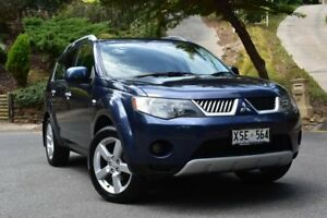 2008 Mitsubishi Outlander ZG MY08 XLS Blue 6 Speed Constant Variable Wagon St Marys Mitcham Area Preview