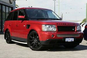2009 Land Rover Range Rover Sport L320 09MY TDV6 Red 6 Speed Sports Automatic Wagon Osborne Park Stirling Area Preview