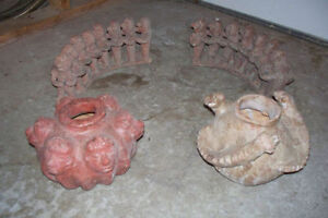 Mexican Pottery (2 Flower Pots & 2 Circle of Friends Decorations
