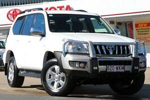 2008 Toyota Landcruiser Prado GRJ120R GXL White 5 Speed Automatic Wagon Woolloongabba Brisbane South West Preview