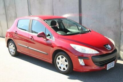 2008 Peugeot 308 T7 XS HDi EGC Burgundy 6 Speed Seq Manual Auto-Clutch Hatchback Mount Hawthorn Vincent Area Preview