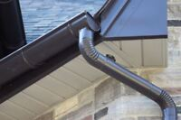 Round eaves troughs and down spouts in aluminum and copper!!!!