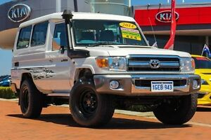 2014 Toyota Landcruiser VDJ78R MY13 GXL Troopcarrier White 5 Speed Manual Wagon East Rockingham Rockingham Area Preview
