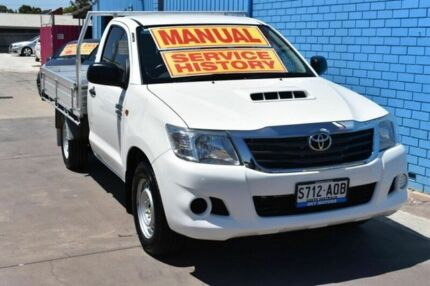 2011 Toyota Hilux KUN16R MY12 SR 4x2 White 5 Speed Manual Cab Chassis Enfield Port Adelaide Area Preview