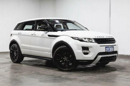 2012 Land Rover Range Rover Evoque L538 MY12 SD4 CommandShift Dynamic Fuji White 6 Speed Welshpool Canning Area Preview