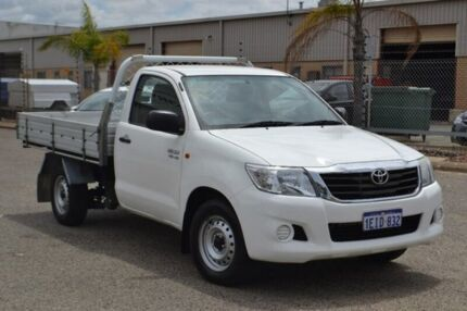 2013 Toyota Hilux GGN15R MY12 SR White 5 Speed Automatic Cab Chassis Pearsall Wanneroo Area Preview