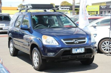 2003 Honda CR-V RD MY2003 Sport 4WD Blue 4 Speed Automatic Wagon Heatherton Kingston Area Preview