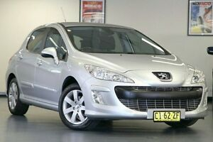 2010 Peugeot 308 T7 XSE Turbo Silver 4 Speed Sports Automatic Hatchback Chatswood Willoughby Area Preview