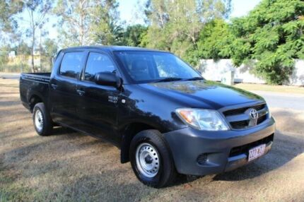 2008 Toyota Hilux TGN16R MY08 Workmate 4x2 Black 5 Speed Manual Utility Ormeau Gold Coast North Preview