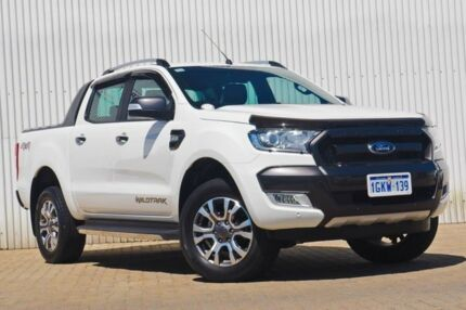 2016 Ford Ranger PX MkII Wildtrak Double Cab White 6 Speed Manual Utility