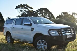 2014 Ford Ranger PX XLT Double Cab White 6 Speed Sports Automatic Utility St Marys Mitcham Area Preview