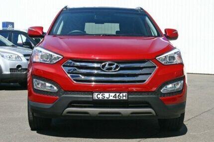 2014 Hyundai Santa Fe DM MY14 Highlander Red 6 Speed Auto Seq Sportshift Wagon Kings Park Blacktown Area Preview