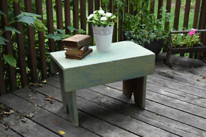 Antique shabby chic milk paint bench