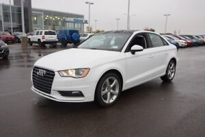 2016 Audi A3 AWD QUATTRO Accident Free,  Leather,  Heated Seats