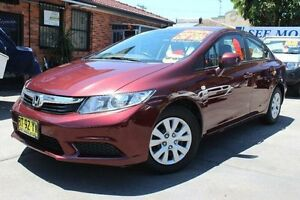 2012 Honda Civic Series 2 VTi Burgundy 5 Speed Automatic Sedan Hamilton Newcastle Area Preview