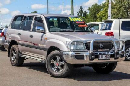 2000 Toyota Landcruiser HDJ100R GXL Silver 5 Speed Manual Wagon