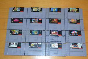 Plusieurs jeux de Super Nintendo