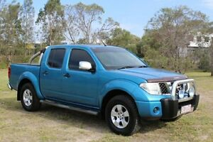 2008 Nissan Navara D40 ST-X Blue 6 Speed Manual Utility Ormeau Gold Coast North Preview