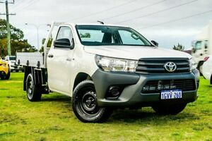 2015 Toyota Hilux TGN121R Workmate 4x2 White 5 Speed Manual Cab Chassis Wangara Wanneroo Area Preview