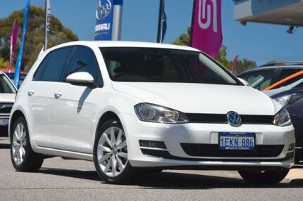 2013 Volkswagen Golf VII MY14 103TSI DSG Highline White 7 Speed Sports Automatic Dual Clutch Willagee Melville Area Preview