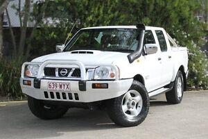 2008 Nissan Navara D22 MY2008 ST-R White 5 Speed Manual Utility Underwood Logan Area Preview