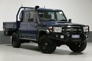 2015 Toyota Landcruiser VDJ79R MY12 Update GXL (4x4) Blue 5 Speed Manual Double Cab Chassis Bentley Canning Area Preview