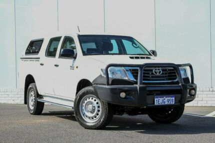 2014 Toyota Hilux KUN26R MY14 SR Double Cab White 5 Speed Automatic Utility Maddington Gosnells Area Preview