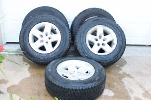 235/70R16-JEEP WRANGLER WINTER PACKAGE - 5 OEM ALLOY RIMS +TIRES
