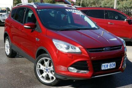 2015 Ford Kuga TF MY15 Titanium AWD Red 6 Speed Sports Automatic Wagon