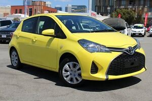 2015 Toyota Yaris NCP130R Ascent Vivid Yellow 4 Speed Automatic Hatchback Northbridge Perth City Area Preview