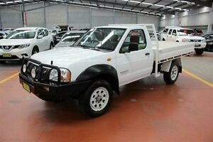 2005 Nissan Navara D22 MY2003 DX White 5 Speed Manual Cab Chassis Maryville Newcastle Area Preview