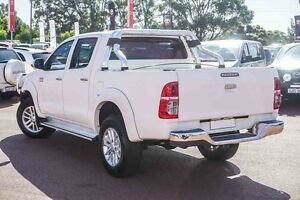 2012 Toyota Hilux KUN26R MY12 SR5 Double Cab White 5 Speed Manual Utility Westminster Stirling Area Preview