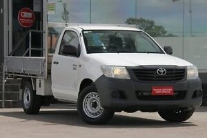 2011 Toyota Hilux TGN16R MY11 Upgrade Workmate White 5 Speed Manual Cab Chassis Old Guildford Fairfield Area Preview