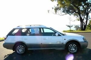 2002 Subaru Outback B3A MY02 Limited White 4 Speed Automatic Wagon South Gladstone Gladstone City Preview