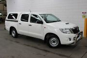 2013 Toyota Hilux KUN16R MY12 SR Double Cab 4x2 White 5 Speed Manual Utility Burnie Area Preview