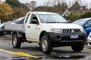 2008 Mitsubishi Triton ML MY08 GL White 5 Speed Manual Cab Chassis Ringwood East Maroondah Area Preview