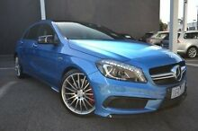 2013 Mercedes-Benz A45 W176 AMG SPEEDSHIFT DCT 4MATIC Blue 7 Speed Sports Automatic Dual Clutch Hatc Burwood Whitehorse Area Preview