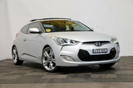 2011 Hyundai Veloster FS + Coupe D-CT Silver 6 Speed Sports Automatic Dual Clutch Hatchback Seven Hills Blacktown Area Preview