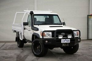 2009 Toyota Landcruiser VDJ79R MY10 Workmate White 5 Speed Manual Cab Chassis Seaford Frankston Area Preview