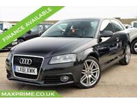 AUDI A3 1.4 TFSI S LINE 3D AUTOMATIC 125BHP FULL SERVICE HISTORY + JUST SERVICED