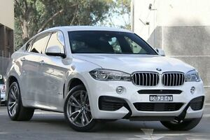 2015 BMW X6 F16 xDrive 50I White 8 Speed Automatic Coupe Petersham Marrickville Area Preview