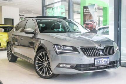 2017 Skoda Superb NP MY17 162TSI Sedan DSG Grey 6 Speed Sports Automatic Dual Clutch Liftback Victoria Park Victoria Park Area Preview