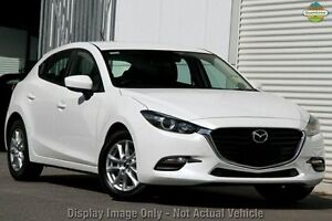 2016 Mazda 3 BN MY17 Neo Snowflake White Pearl 6 Speed Manual Hatchback Gymea Sutherland Area Preview