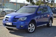 2005 Mitsubishi Outlander ZF MY06 VR-X Blue 4 Speed Sports Automatic Wagon Pearsall Wanneroo Area Preview