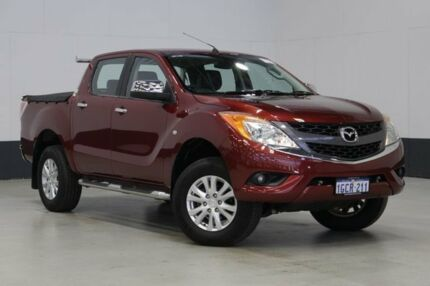 2012 Mazda BT-50 GT (4x4) Red 6 Speed Automatic Dual Cab Utility Bentley Canning Area Preview