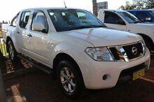2012 Nissan Navara D40 S6 ST White Sports Automatic Utility Minchinbury Blacktown Area Preview