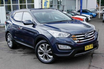 2013 Hyundai Santa Fe DM MY13 Highlander Blue 6 Speed Sports Automatic Wagon