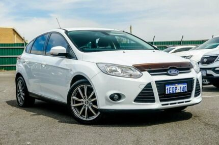 2014 Ford Focus LW MkII Trend PwrShift White 6 Speed Sports Automatic Dual Clutch Hatchback Osborne Park Stirling Area Preview
